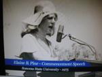 Elaine Pine (Holtz) Commencement Speaker Sonoma State University 1975