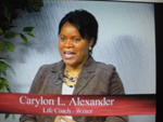 Carylon L. Alexander discussing Black History Month on Women's Spaces in February 2008
