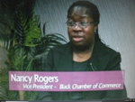 Nancy Rogers VP North Bay Black Chamber of Commerce on Women's Spaces 1/6/2012