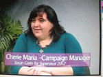Cherie Maria, Campaign Manager for Susan Gorin for Supervisor of Sonoma County on Women's Spaces 1/6/2012
