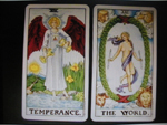 Tarot Reading 2012 Temperance and The World (Ryder-Waite)