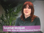 Susannah McDevitt  on Women's Spaces Show filmed 4/13/2012