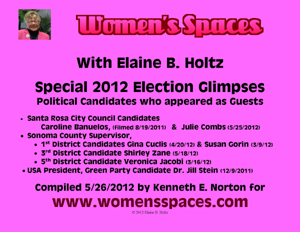 Glimpses of 2012 Political Candidates appearing as Guests on Women's Spaces