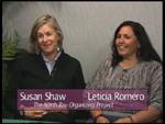 Susan Shaw a Leticia Romero on Women's Spaces Show fillmed 5/4/2012