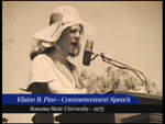 Elaine B. Pine (now Holtz) graduation speech, Sonoma State University, June 1975