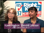 Karen Hudson a Ellendril Johnsen on Women's Spaces Show filmed 10/5/2012