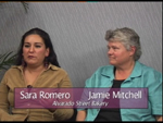Jamie Mitchell a Sara Romero on Women's Spaces Show filmed 8/17/2012