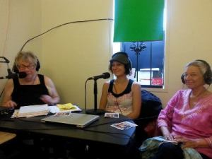 Elaine B. Holtz, Susanne Duggan and Sharon Maser on Women's Spaces Radio Show KBBF FM 89.1
